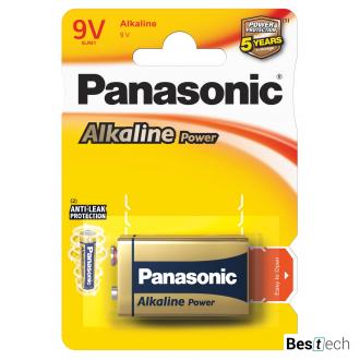 Батарейка Panasonic Alkaline Power 6LF22APB/1BP, 6LF22, блистер 1шт, цена за уп.